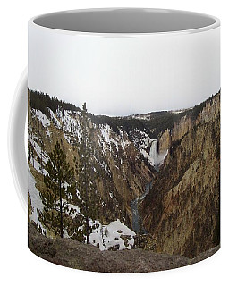 The Falls At Yellowstone Park Coffee Mug