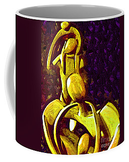 The Family Unit In Gold Coffee Mug