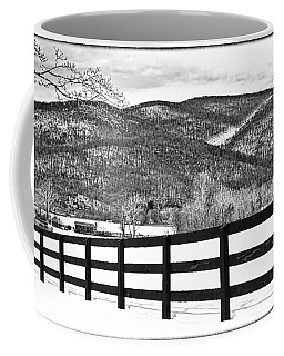 The Fenceline B W Coffee Mug