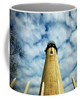 The Fenwick Light And A Mackerel Sky Coffee Mug