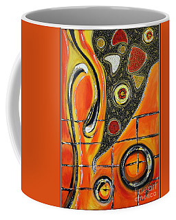The Fires Of Charged Emotions Coffee Mug by Jolanta Anna Karolska