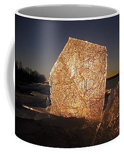 Coffee Mug featuring the photograph The First Ice ... by Juergen Weiss