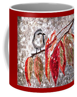 Coffee Mug featuring the painting The First Snow by Angela Davies