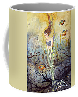 Coffee Mug featuring the painting The Fish Are Biting by Katherine Miller