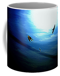 Coffee Mug featuring the photograph The Flight by Miroslava Jurcik