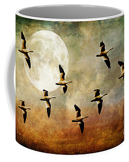 The Flight Of The Snow Geese Coffee Mug by Lois Bryan