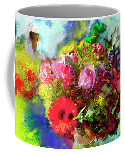 Coffee Mug featuring the painting The Florist by Ted Azriel