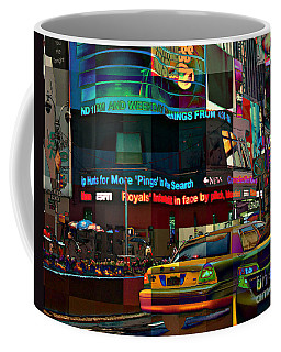The Fluidity Of Light - Times Square Coffee Mug