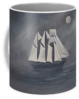 Coffee Mug featuring the painting The Fog by Virginia Coyle