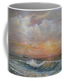 Sunlit  Frigate Coffee Mug