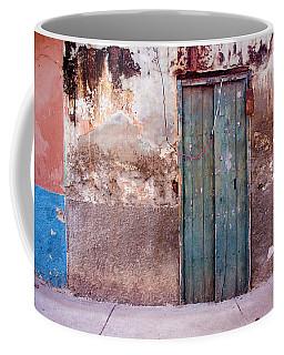 The Front Door Of A House In Puerto Coffee Mug