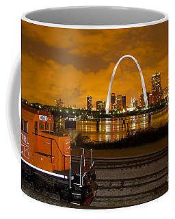 The Ftrl Railway With St Louis In The Background Coffee Mug