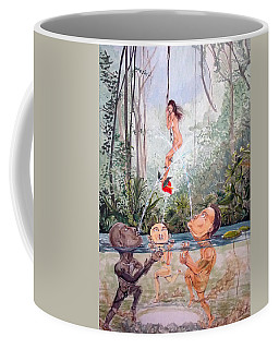 The Game Of The River Coffee Mug by Lazaro Hurtado