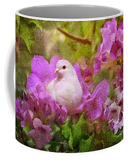 The Garden Of White Dove Coffee Mug