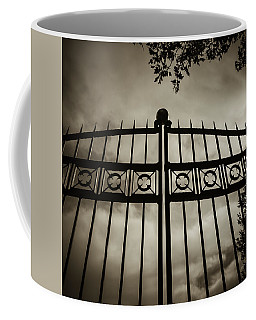 The Gate In Sepia Coffee Mug