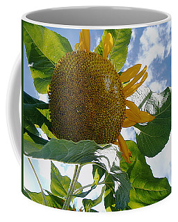 Coffee Mug featuring the photograph The Gigantic Sunflower by Verana Stark