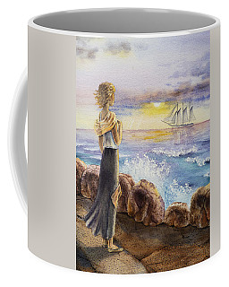 The Girl And The Ocean Coffee Mug