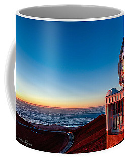 Coffee Mug featuring the photograph The Glow Of The Warm Sunset Reflecting Off Of The Gemini 8.1m Op by Jim Thompson