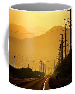 Coffee Mug featuring the photograph The Golden Road by Matt Harang