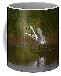 Coffee Mug featuring the photograph The Great Egret by Leticia Latocki