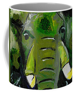 The Green Elephant In The Room Coffee Mug