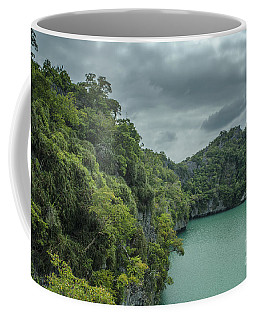 The Green Laguna Coffee Mug by Michelle Meenawong