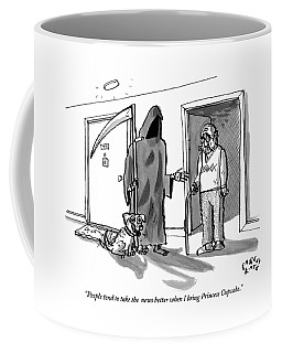 The Grim Reaper Brings A Small Puppy Coffee Mug