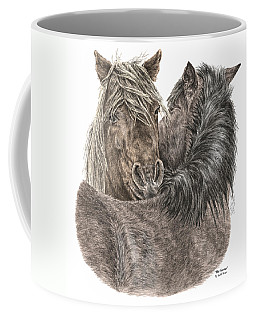 The Groom - Chincoteague Pony Print - Color Tinted Coffee Mug