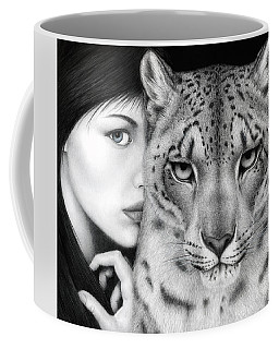 Coffee Mug featuring the painting The Guardian by Pat Erickson