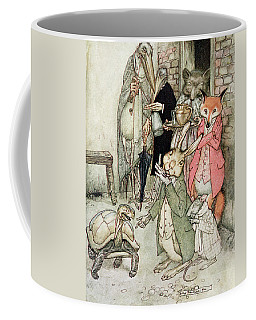 The Hare And The Tortoise, Illustration From Aesops Fables, Published By Heinemann, 1912 Colour Coffee Mug