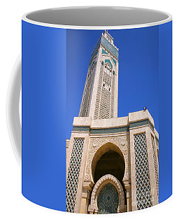 The Hassan II Mosque Grand Mosque With The Worlds Tallest 210m Minaret Sour Jdid Casablanca Morocco Coffee Mug by Ralph A  Ledergerber-Photography