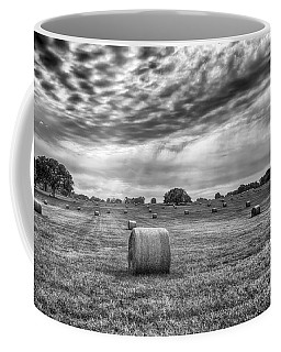 Coffee Mug featuring the photograph The Hay Bails by Howard Salmon