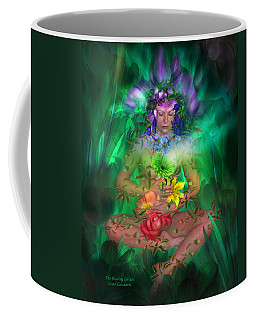 The Healing Garden Coffee Mug by Carol Cavalaris