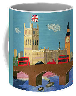The Houses Of Parliament Collage Coffee Mug
