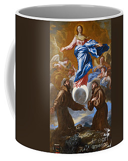 The Immaculate Conception With Saints Francis Of Assisi And Anthony Of Padua Coffee Mug