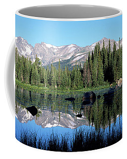 The Indian Peaks Reflected In Red Rock Coffee Mug