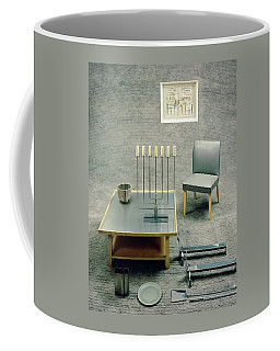 The Interior Design Of A Gray Living Room Coffee Mug