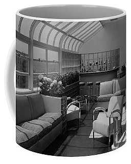 The Interior Of A Rooftop Terrace Coffee Mug