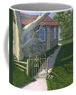 Coffee Mug featuring the painting The Iron Gate by Gary Giacomelli