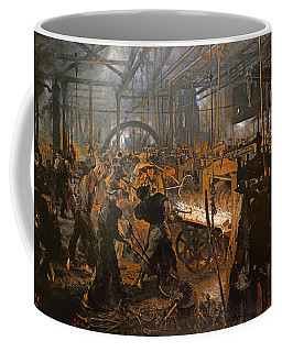 The Iron-rolling Mill Oil On Canvas, 1875 Coffee Mug