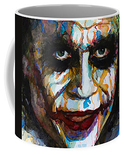 Coffee Mug featuring the painting The Joker - Ledger by Laur Iduc