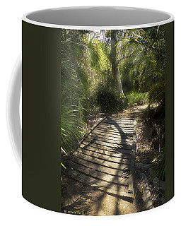 Coffee Mug featuring the photograph The Journey Along The Path Comes With Light And Shadows by Lucinda Walter