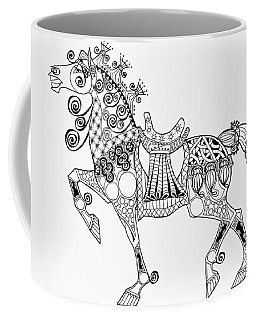 The King's Horse - Zentangle Coffee Mug