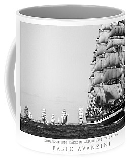 Coffee Mug featuring the photograph The Kruzenshtern Departing The Port Of Cadiz by Pablo Avanzini