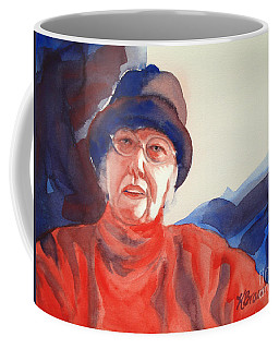Coffee Mug featuring the painting The Lady In Red by Kathy Braud