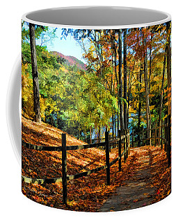 Coffee Mug featuring the photograph The Lake Path by Kenny Francis