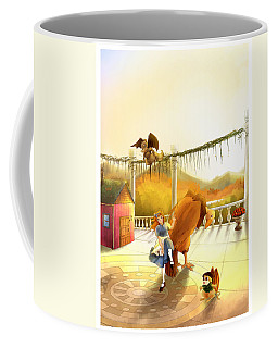 The Landing On The Balcony  Coffee Mug