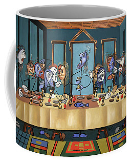 Coffee Mug featuring the painting The Last Supper by Anthony Falbo