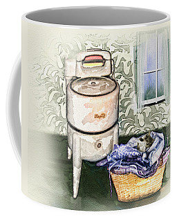 Coffee Mug featuring the digital art The Laundry Room by Mary Almond