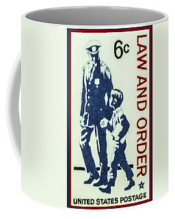 The Law And Order Stamp Coffee Mug by Lanjee Chee
